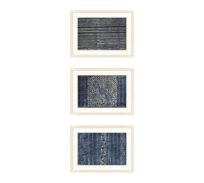 Indigo Batik Framed Paper Print Pottery Barn