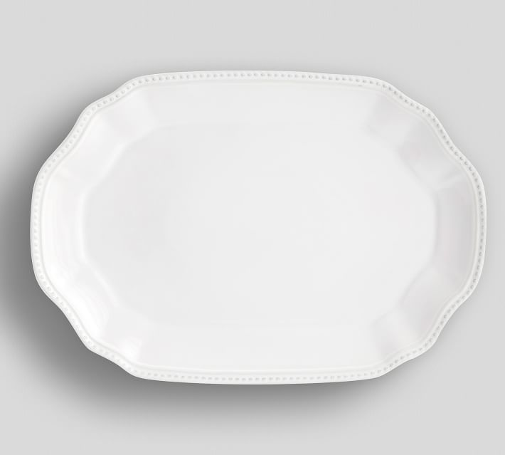 Leila Oval Serving Platter Pottery Barn