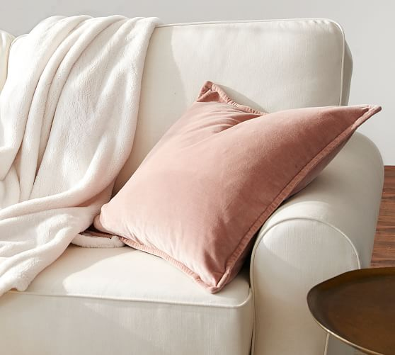 """New Pottery Barn Cherry Red Washed Velvet Pillow Cover 20/"""" X20"""""""
