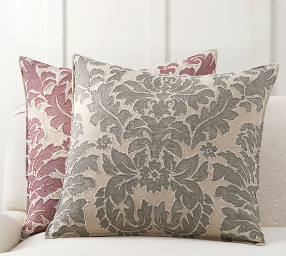Francesca Embroidered Decorative Pillow Cover | Pottery Barn