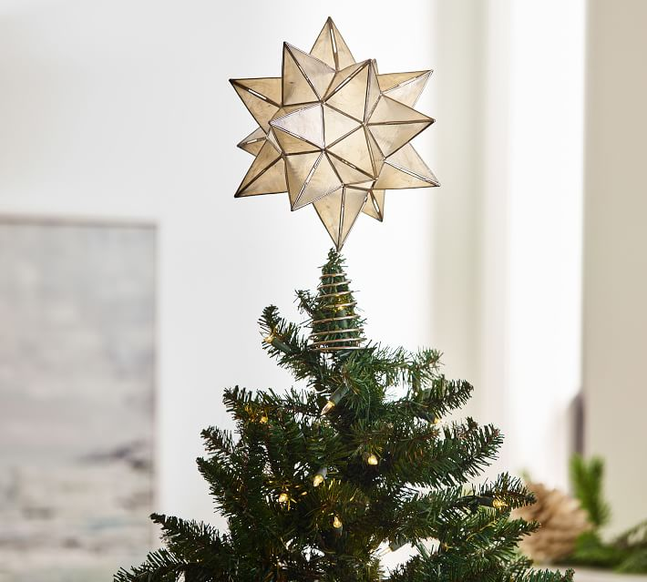 Capiz Star Tree Topper Pottery Barn