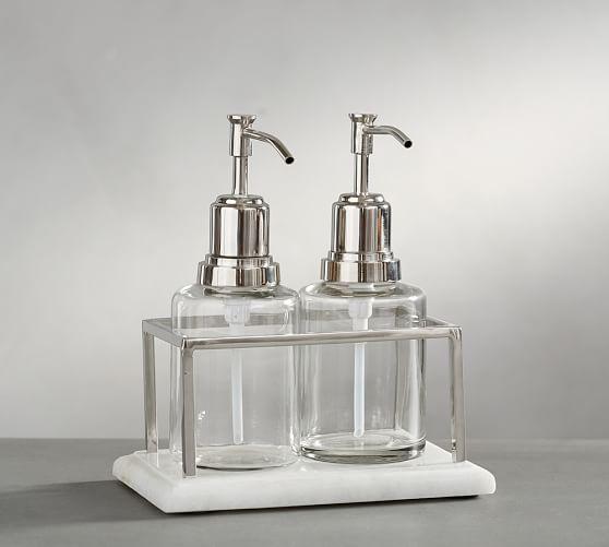 Bathroom Soap And Lotion Dispenser Set Image Of Bathroom And Closet