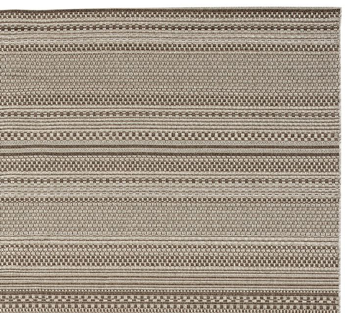 Parker Synthetic Indoor Outdoor Rug Gray Pottery Barn