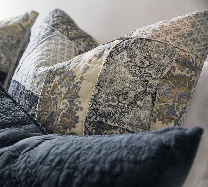 Delaney Patchwork Cotton Quilt Amp Sham Pottery Barn