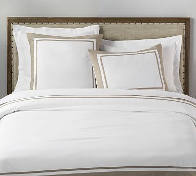 Parker Organic Percale Duvet Cover Amp Shams Pottery Barn