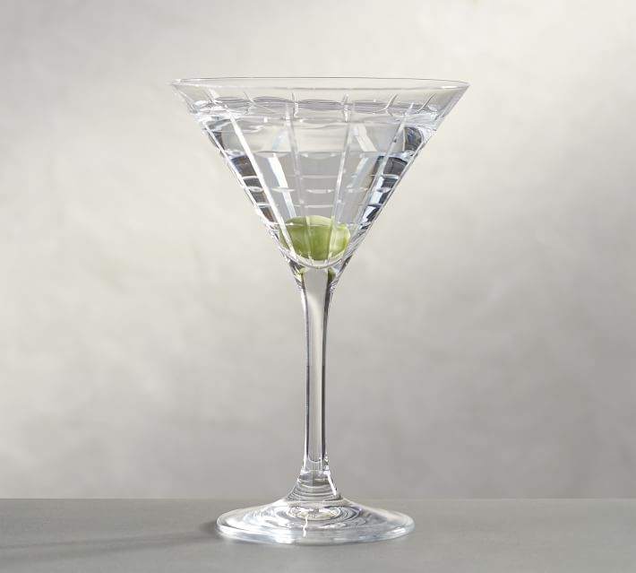 Library Hand Cut Martini Glass Pottery Barn
