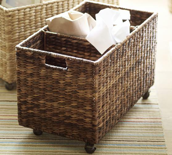 Havana Handwoven Seagrass Sorting Basket Pottery Barn