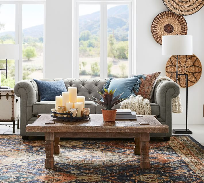 Shop Chesterfield Upholstered Sofa from Pottery Barn on Openhaus