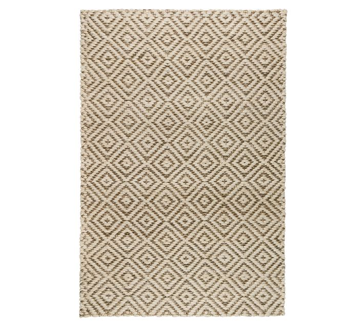Brielle Diamond Handwoven Jute Rug - Natural/Gray