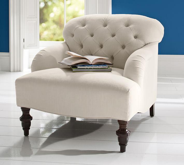 Clara Upholstered Armchair | Pottery Barn