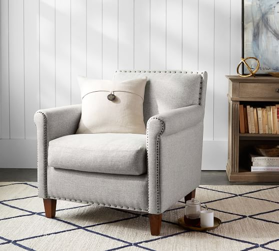 Roscoe Upholstered Armchair | Pottery Barn