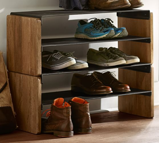 Lodge Stacking Shoe Storage | Pottery Barn