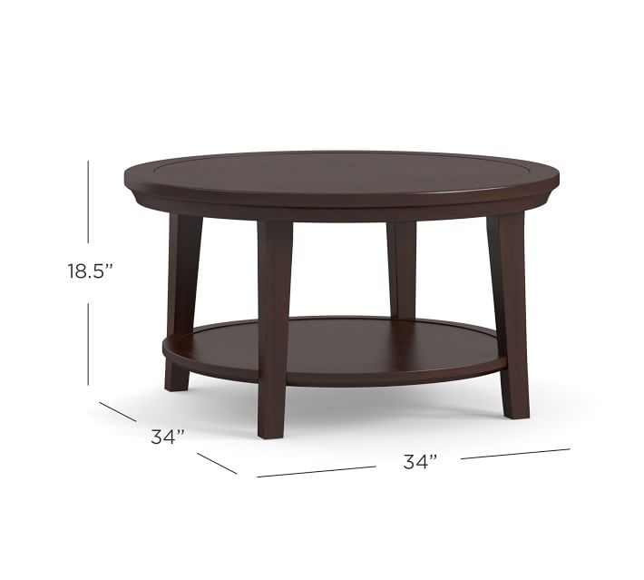 Metropolitan Round Coffee Table Pottery Barn