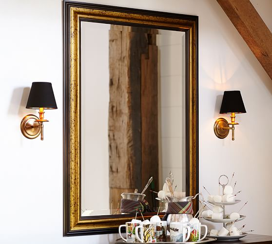 Gold Gilt Black Wall Mirror Pottery Barn