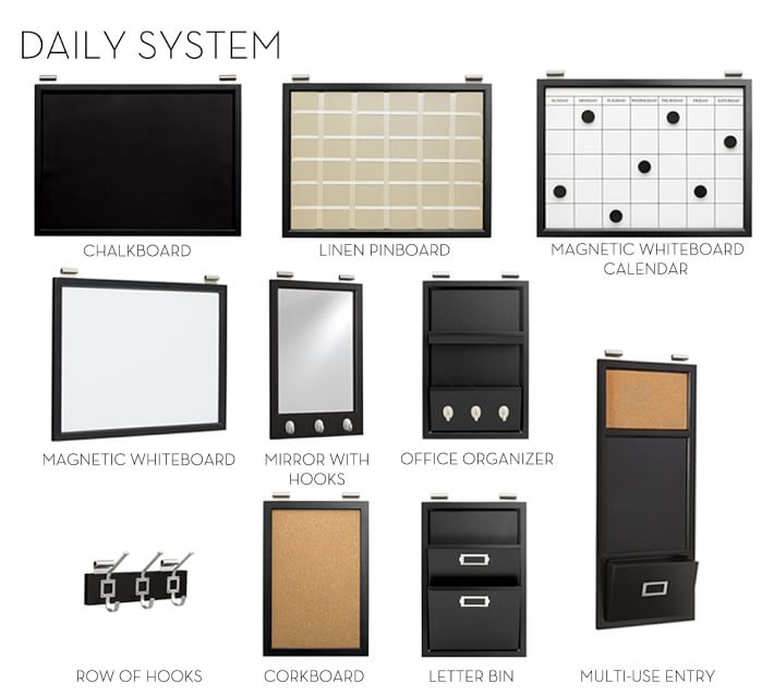 Daily Organization System Black Pottery Barn