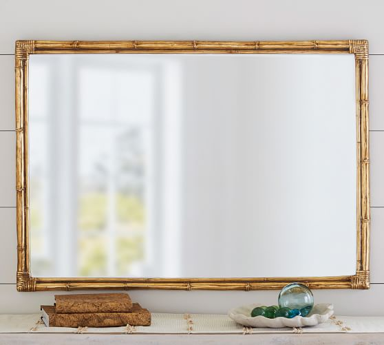 Bamboo Gold Accent Wall Mirror Pottery Barn