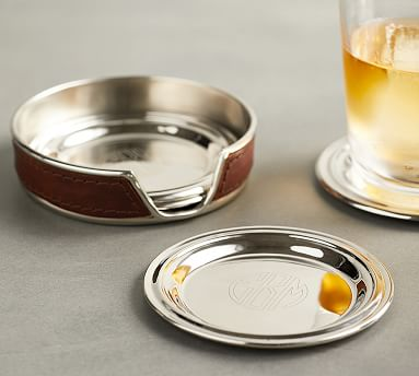 Hudson Coasters Set Of 4 Bar Accessories Pottery Barn