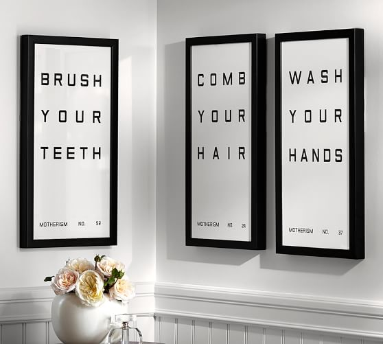 Bathroom Reminders Framed Prints Pottery Barn
