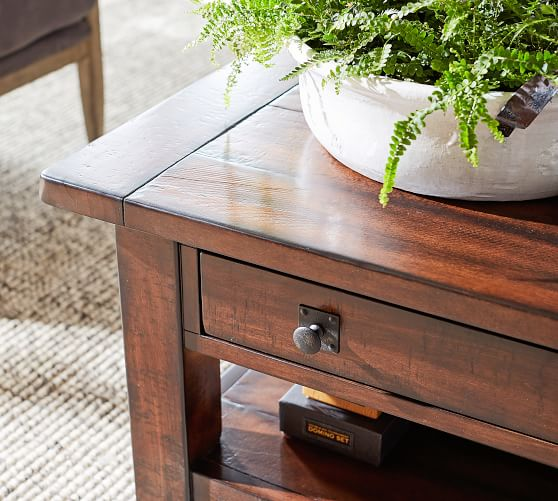 Benchwright 36 Square Coffee Table Pottery Barn