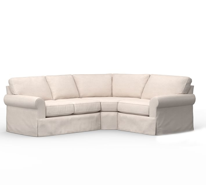 Shop Buchanan Roll Arm Slipcovered 3-Piece Sectional with Wedge from Pottery Barn on Openhaus