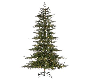 7.5ft Pre-Lit LED Layered Artificial Christmas Tree ...
