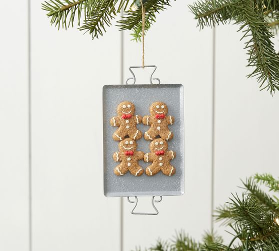 Gingerbread Cookie Sheet Ornament Pottery Barn