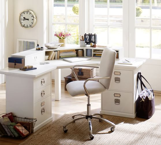 Bedford Corner Desk With Drawers Pottery Barn