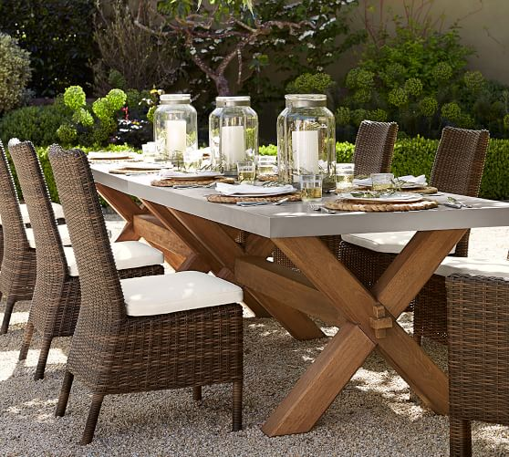Torrey All Weather Wicker Dining Chair Espresso Pottery Barn
