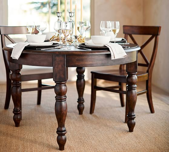 Evelyn Round Extending Dining Table Pottery Barn