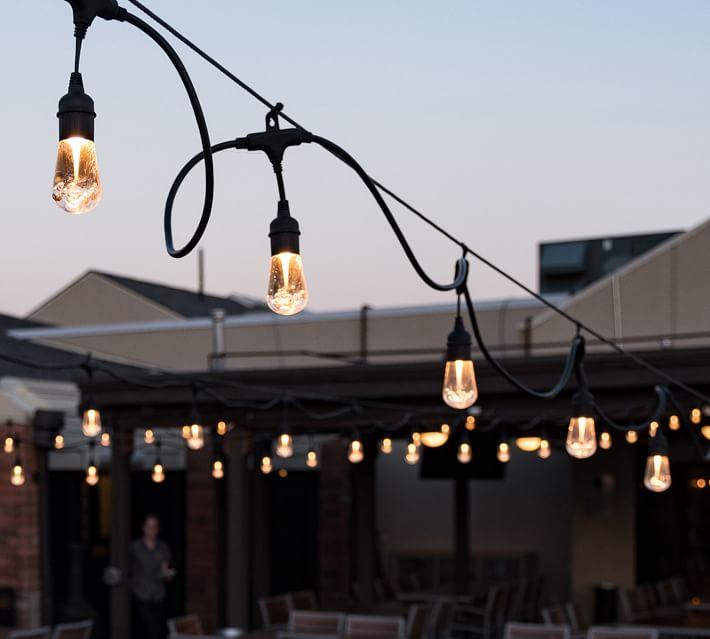 Indoor & Outdoor String Lights - Black   Pottery Barn