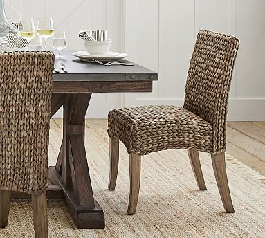 Bar Stools And High Table, Seagrass Dining Chair Pottery Barn