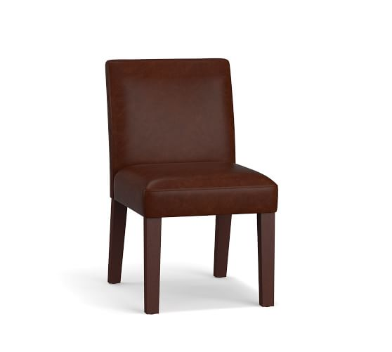 Classic Leather Dining Chair Armchair Pottery Barn