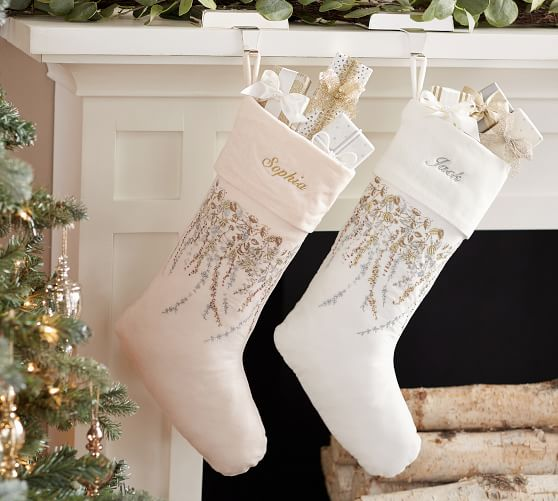 Personalized Monique Lhuillier Neve Stockings Pottery Barn