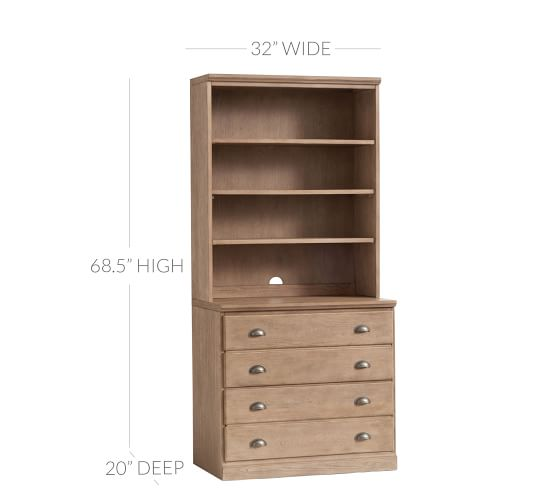 "Printer's 32"" x 69.5"" Bookcase 