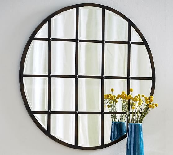 Eagan Multipanel Round Wall Mirror 44 Pottery Barn