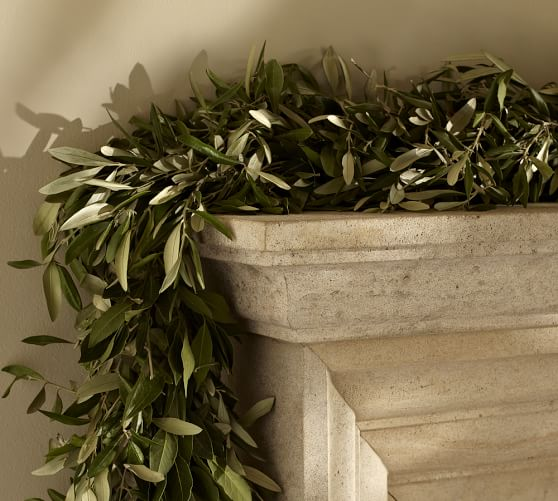 Fresh Olive Leaf Myrtle Garland Pottery Barn