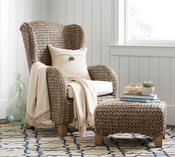 Seagrass Wingback Chair | Pottery Barn