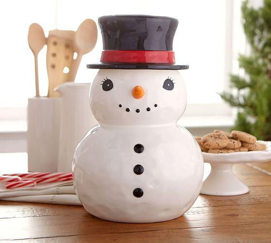 Snowman Cookie Jar Kitchen Accessories Pottery Barn