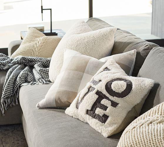 Love Sherpa Decorative Pillow Cover Pottery Barn