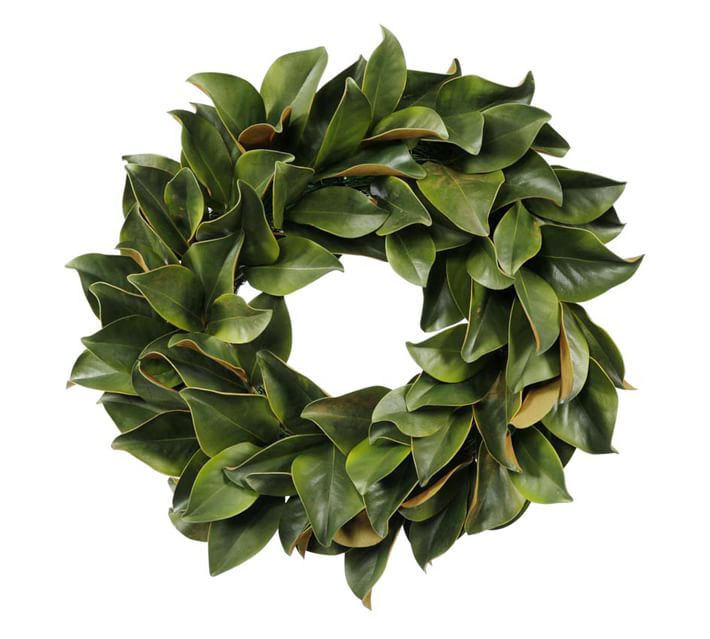 Faux Magnolia Leaf Wreath Pottery Barn