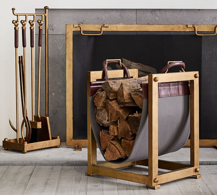 Industrial Fireplace Tool Set Pottery Barn