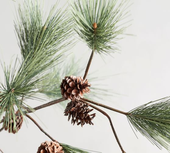 Faux Needle Nose Pine Branch Artificial Flowers Pottery Barn
