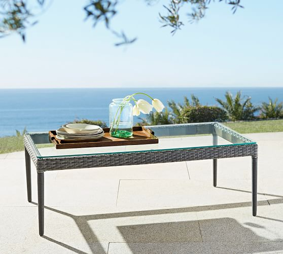 Cammeray All Weather Wicker Coffee Table Pottery Barn