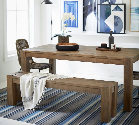 West Dining Bench Pottery Barn