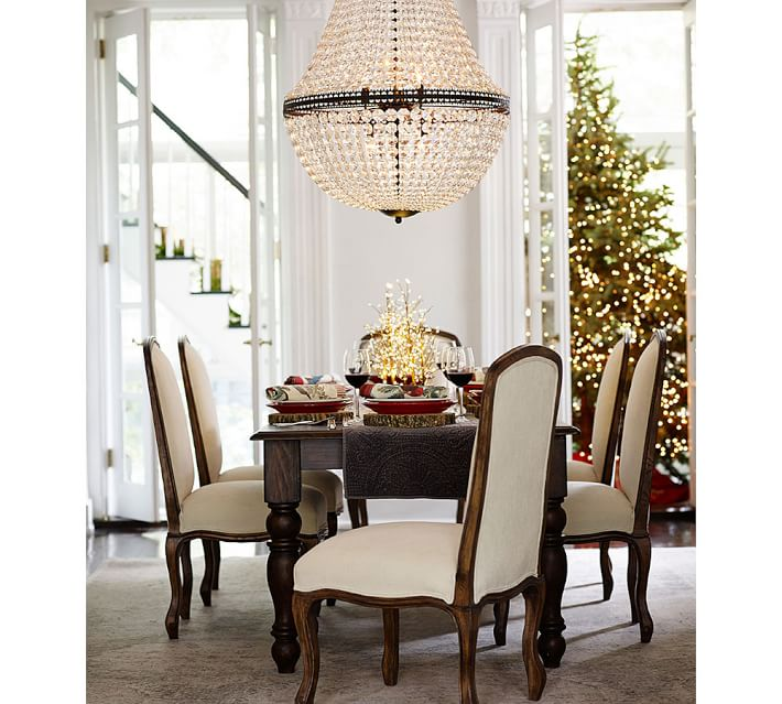 Mia Faceted Crystal Extra Large Chandelier Pottery Barn