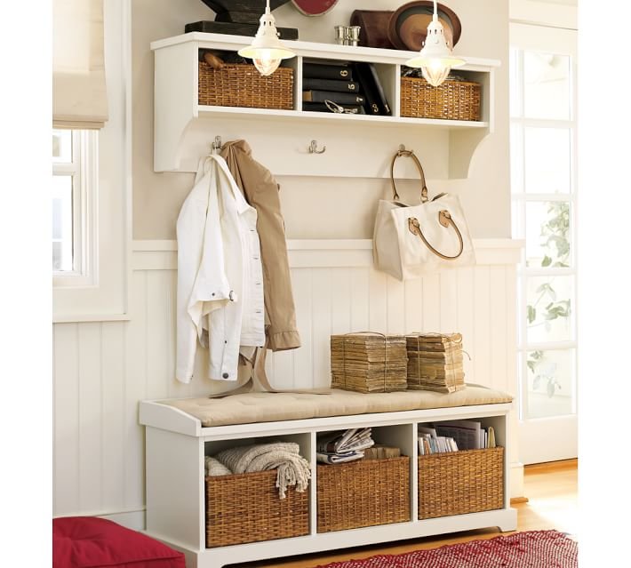 Samantha Entryway Bench Shelf Antique White Pottery Barn,Colors That Go With Black And White Polka Dots