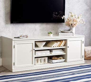 Logan Media Suite With Glass Towers Hutch Pottery Barn