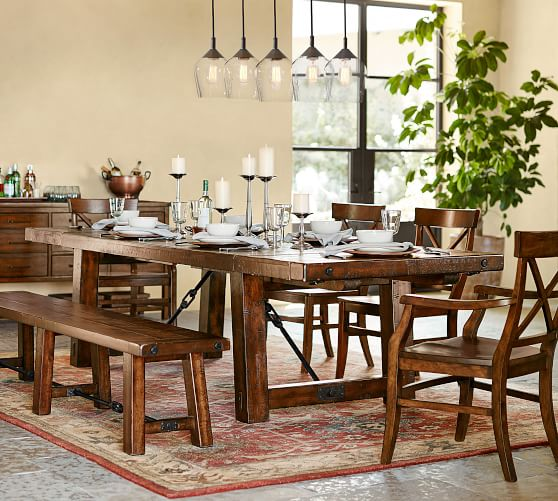 Benchwright Extending Dining Table Alfresco Brown Pottery Barn