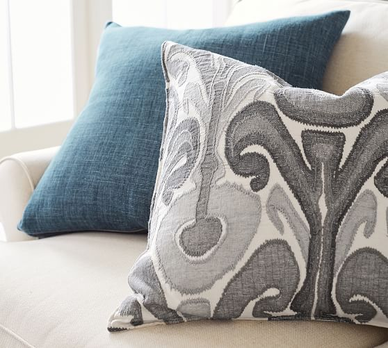 Kenmare Ikat Embroidered Decorative Pillow Covers Pottery Barn