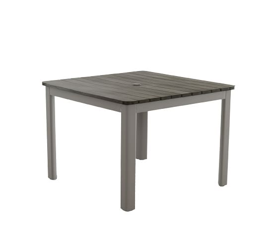 Abrego Faux Teak Square 40 Dining Table Pottery Barn